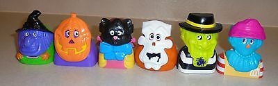 Set of 6 1998 McDonalds Haunted Halloween Happy Meal Toy Candy Containers