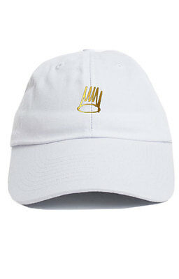 66627a00428 Born Sinner Custom Unstructured Dad Hat Cap J Cole TDE Nation New-White w