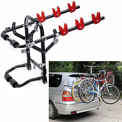 3 Rear Cycle Bicycle Bike Carrier Car Rack Universal Fit Hatchback Saloon Estate