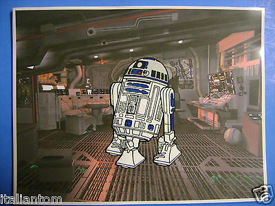 Hand Painted Handpainted R2D2 R2 D2 R2-D2 Star Wars Cel Cell Art