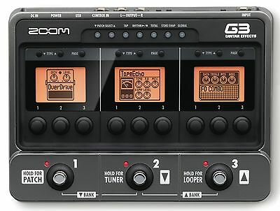 Zoom G3 Guitar Multi Effects Amp Simulator USB Audio