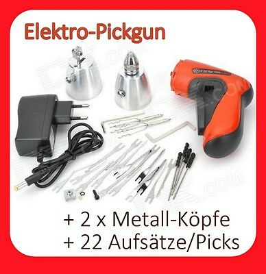 Elektro Pickgun + 22tlg Profi PickSet Lockpicking Dietrich Schlosst knacken pick