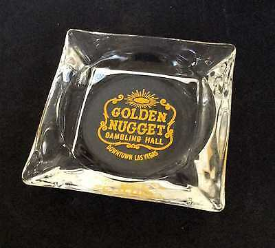 Vintage Golden Nugget Gambling Hall Ashtray Ash Tray Las Vegas, NV Nevada