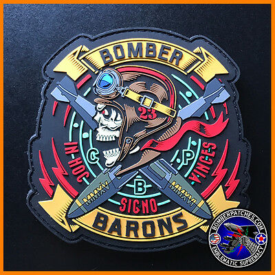 23d EBS FRIDAY BOMBER BARONS PVC MORALE Patch, Glow in the Dark, B-52 Minot AFB