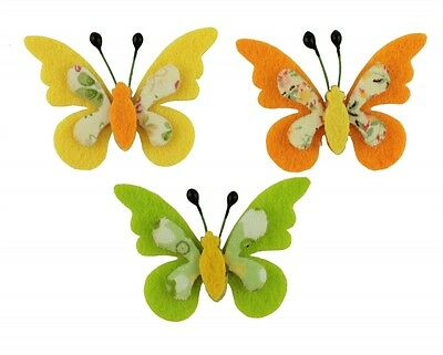 Felt Butterfly Shaker parts Table decoration to Glue on yellow green orange