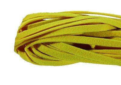 Felt band yellow 1cm x 10m Felt cord Craft cord Deco cord 0,3cm strong
