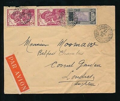 FRENCH GUINEA 1938 FRIGUIAGBE to LONDON AIRMAIL GUINEE