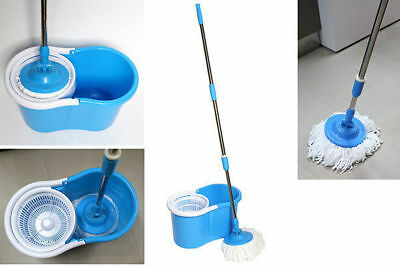 go spin mop set compact design with two heads bucket and mop