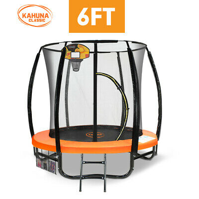 6ft Kahuna Trampoline Safety Net Spring Pad Cover Mat Free Ladder Basketball Set