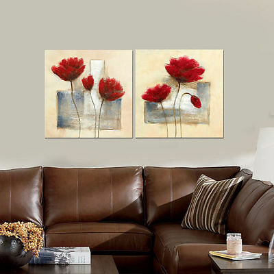 Canvas Print Painting Pictures Home Decor Wall Art Abstract Flowers Framed