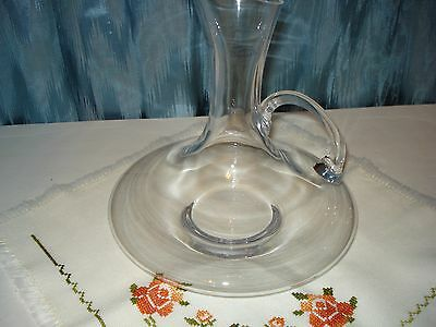 Badash Handmade Crystal Carafe, Pitcher,Decanter With Handle Elegant,Decorative