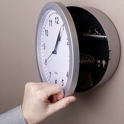 Hidden Secret Wall Clock Safe Container Box for Money Stash Jewelry Storage Gift