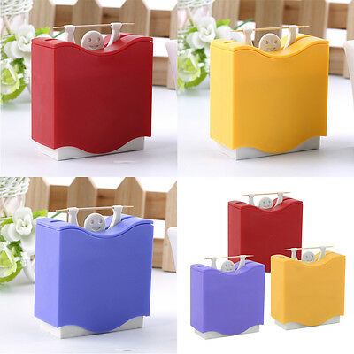 Weight Lifter Automatic Toothpick Holder Bucket Home Bar Table Accessories LO