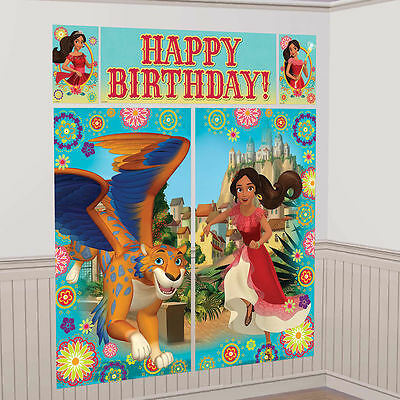 Elena of Avalor Scene Setter Wall Decorating Kit Girls Birthday Party Supplies