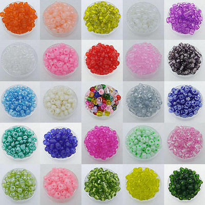 DIY 500Pcs 4mm Czech Glass Seed Spacer beads Jewelry Making 43Colors Miexd