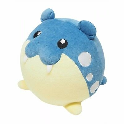 "Gennuine Sanei Pokemon Go Mochifuwa Cushion PZ16 Spheal 12"" Plush"
