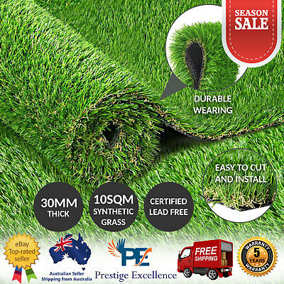 Artificial Grass Turf Synthetic Fake Lawn 10SQM Plastic Plant Flooring Roll 30mm