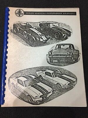 1965 Shelby American Cobra Performance Equipment Parts and Accessories Reprint