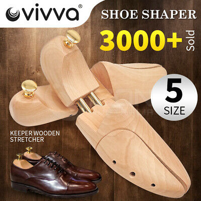 Adjustable Men Women Cedar Wood Shoe Tree Shaper Wooden Stretcher Twin Tube