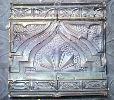 Gothic Iridescent Antique Ceiling Tin Tile FLeur De Li Trefoil Shabby Chick
