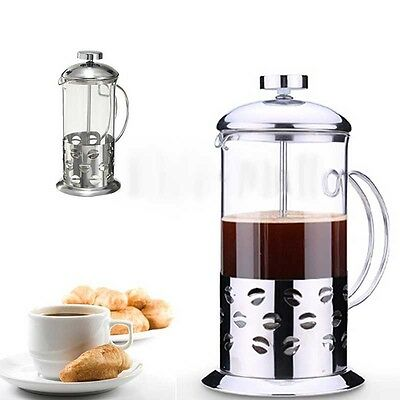 350-800ml Stainless Steel Filter Glass Tea Coffee Cup french Plunger Press Maker