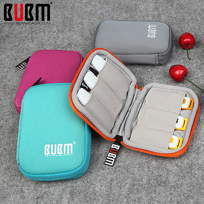 6pcs USB Flash Drive Cable Organizer Case Cover Storage Carring Bag Travel Pouch