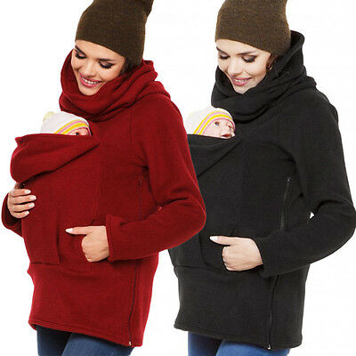 Baby Carriers Maternity Polar Warm Fleece Hoodie Jumper Pullover Babywearing