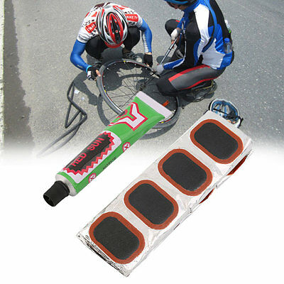 48pcs Bike Tire Bicycle Kit Patches Repair Glue Tyre Tube Rubber Puncture FO
