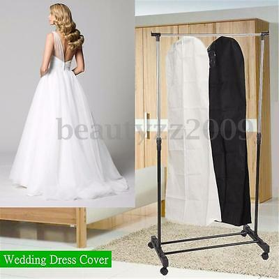 Wedding Dress Bridal Gown Dust Cover Garment Showerproof Clothes Storage Zip Bag
