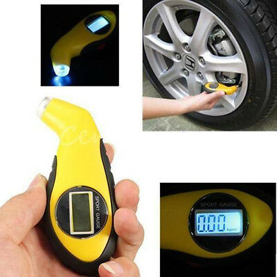 Auto LCD Digital Car Motorcycle Tire Tyre Air Pressure Gauge Tester Tool For Car