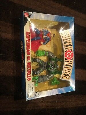 """Vintage 1999 Hasbro Mail-Order Only DC """"SUPERMAN VS. METALLO"""" 5"""" action figure"""