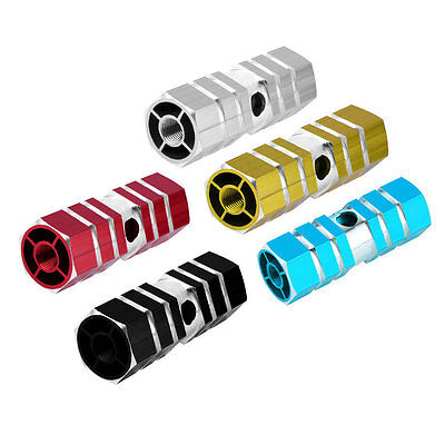 1 Pair Aluminum Alloy Pegs Bike Cycling Bicycle Rear Stunt Foot Peg Six Axle FG