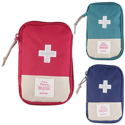 New Outdoor Camping Home Survival Portable First Aid Kit bag Case FG