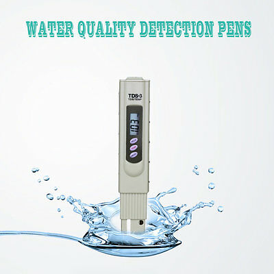 New LCD Digital TDS3 TDS Meter Filter Pen Temp PPM Tester Stick Water Purity FG