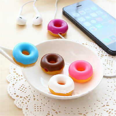 Sweet Doughnut Cable Wire Organizer Winder USB Earphone Headphone Cord Holder