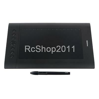 """Huion H610 Pro USB Art Graphics Drawing Tablet 10""""x6.25"""" + Rechargeable Pen HOT"""