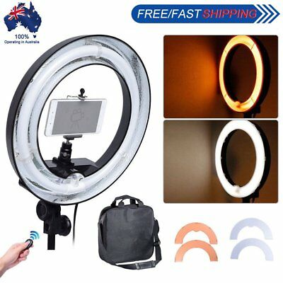 Diva 400W 34cm Undimmable Ring Light + Camera Phone Holder with Color Filter Kit