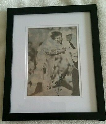 Jeff Thomson Framed Cricket Signed In Person 8 X 6 Inches Photo Coa Genuine