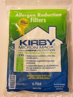 12 Universal Kirby Hepa White Cloth Allergen Reduction Bags Genuine Kirby Micron