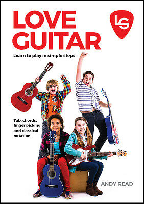 **Best Way to Learn Play Guitar Beginners Tuition Book Children Kids With Videos