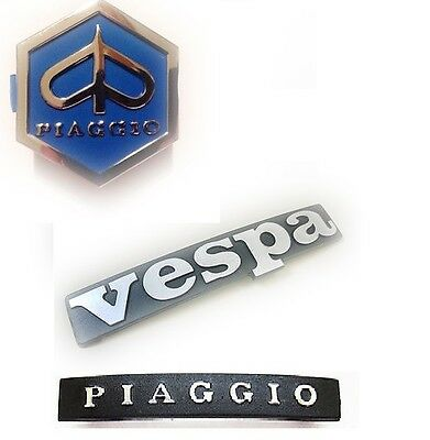 Vespa Piaggio Badge Emblem Logo set of 3 Brand New