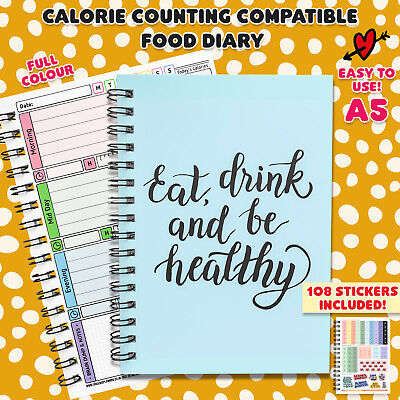 Calorie Counting Diet Food Diary Slimming Weight Loss Tracker Journal Book 3 mth