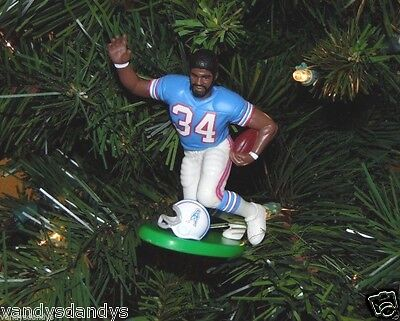 earl CAMPBELL houston OILERS football NFL xmas ornament HOLIDAY vtg JERSEY #34