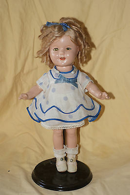 """Vintage 13"""" Shirley Temple Composition Doll """"Stand Up & Cheer"""" Outfit"""