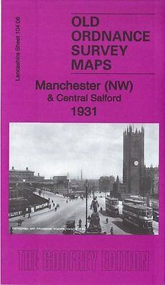 Ordnance Survey Map Manchester (Nw) & Central Salford 1931