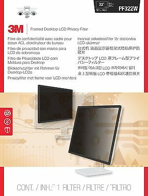 3M PF322W Framed Privacy Filter for 22-23-Inch Widescreen Desktop