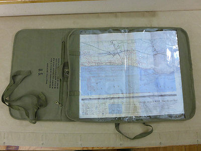 US ARMY WW2 JEEP CANVAS ROLL MAP CASE / ROLL KARTENTASCHE ROLLER WiLLYS FORD GPW