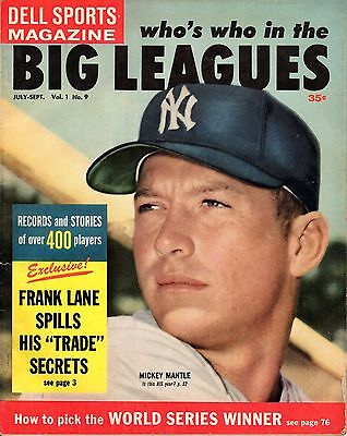 1959 Dell Sports Who's Who In the Big Leagues, Baseball magazine, Mickey Mantle