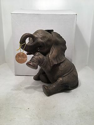 Out of Africa Large Sitting Missing You Elephant Figurine Ornament *BRAND NEW*
