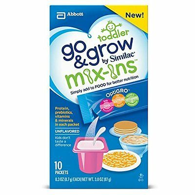 Go & Grow by Similac Food Mix-ins Non-GMO Powder Packs, Toddler Food Nutrients,